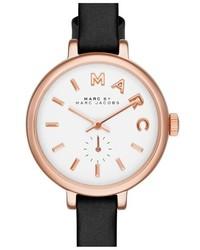Sally round leather strap watch 28mm medium 160880