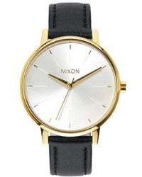 The kensington leather strap watch 37mm medium 160885