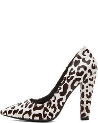 Nicholas darcy leopard heels in black white medium 77478