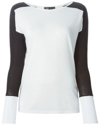 Vince Contrasting Long Sleeves T Shirt