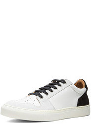Logo basket leather sneakers in black medium 73409
