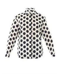 Burberry Prorsum Large Polka Dot Linen Shirt