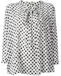 Pussy bow polka dot blouse medium 236318