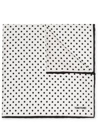 Tom Ford Polka Dot Silk Twill Pocket Square