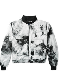 BILLY Tie Dyed Cotton Twill Bomber Jacket