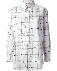 Cracked print shirt medium 21739