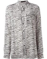 Wavy print blouse medium 21738