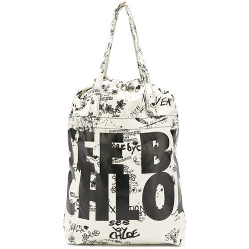 33ff6e7307 £77, See by Chloe See By Chlo Logo Maxi Tote