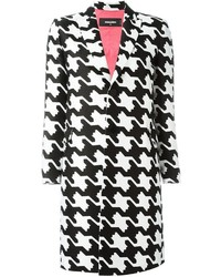 Geometric print tailored coat medium 1159563