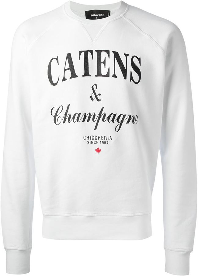 Champagne Dsquared Catens Neck Crew Sweaters 2 Sweatshirt OfZZXq