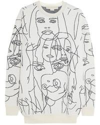 Stella McCartney Gary Hume Intarsia Cotton Blend Sweatshirt