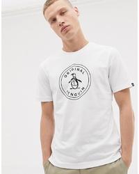 Original Penguin Circle Logo T Shirt In White