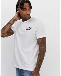 Puma Essentials Small Logo T Shirt In White