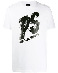 PS Paul Smith Logo Print Crew Neck T Shirt
