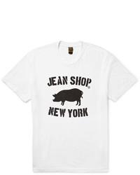 Jean Shop Printed Slub Cotton Jersey T Shirt
