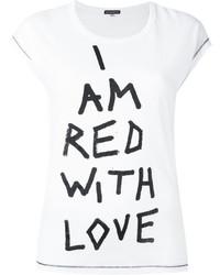 Printed text t shirt medium 3649777