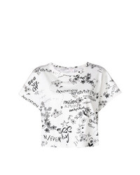 See by Chloe See By Chlo Graffiti Print Short Sleeved Cropped T Shirt