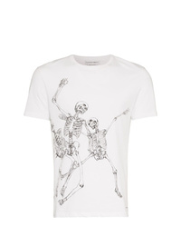 Alexander McQueen Skeleton Graphic Print T Shirt