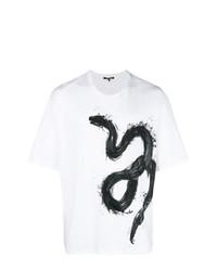 Roberto Cavalli Snake Print T Shirt