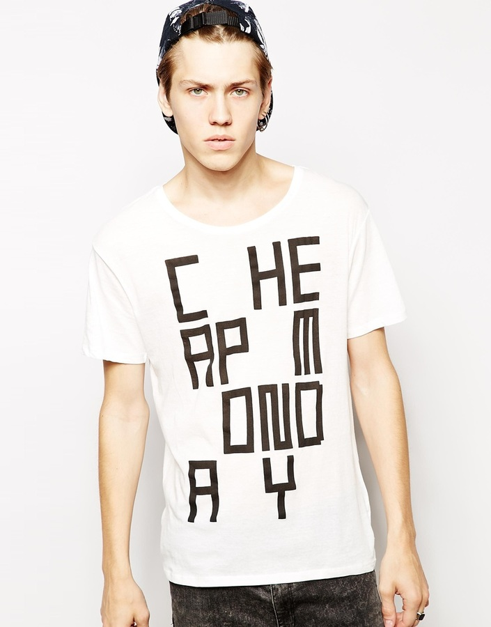 Cheap Monday T Shirt With Video Game Print