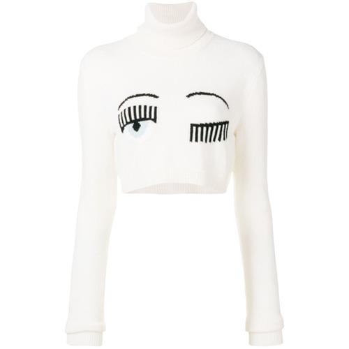 b9b88feb2 Chiara Ferragni Winking Eye Roll Neck Jumper, £265 | farfetch.com ...