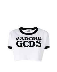 Gcds Logo Cropped T Shirt