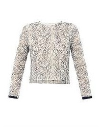 Adam Lippes Lace Long Sleeve Top