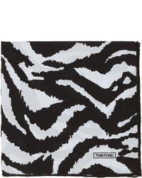 Zebra print silk pocket square blackwhite medium 256725