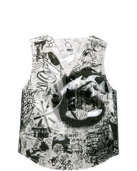 MM6 MAISON MARGIELA Semi Sheer Graphic Vest