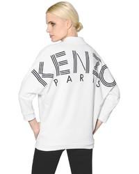 White and Black Print Sweatshirt