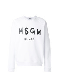 White and Black Print Sweatshirt