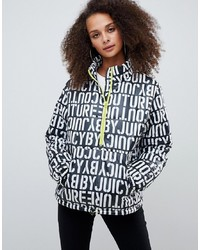 Juicy Couture Juicy By Multi Logo Padded Jacket With Half Zip Detail