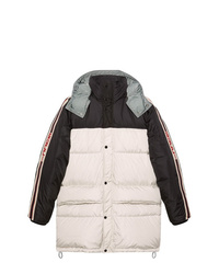 White and Black Puffer Coat