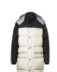 Gucci Webbing Trimmed Quilted Shell Hooded Down Jacket