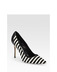 White and Black Pumps