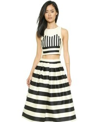 Tibi Escalante Stripe Crop Top