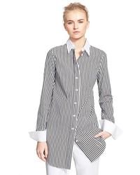 Michael Kors Michl Kors Stripe Cotton Blend Poplin Shirt