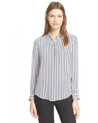 Stripe silk boyfriend shirt medium 369323