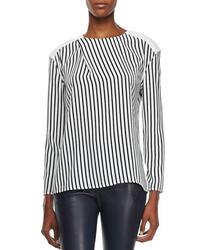 Richey long sleeve striped tee medium 156081