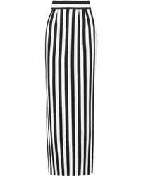 Dolce & Gabbana Striped Crepe Maxi Skirt