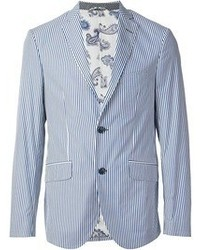 White and Blue Blazer