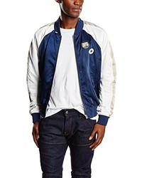 White and Blue Bomber Jacket