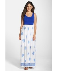 Fraiche by j floral print cutout maxi dress medium 289367