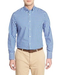 Nordstrom Shop Smartcare Tm Regular Fit Wrinkle Free Gingham Plaid Sport Shirt