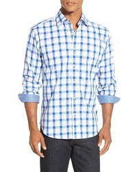 Bugatchi Shaped Fit Exploded Gingham Sport Shirt
