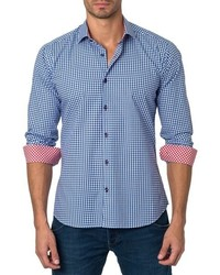 Jared Lang Trim Fit Gingham Sport Shirt