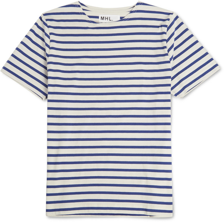 Margaret Howell Mhl Striped Cotton T Shirt