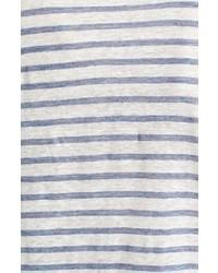 ATM Anthony Thomas Melillo Stripe Linen T Shirt