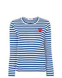 Comme Des Garcons Play Comme Des Garons Play Striped Longlseeved T Shirt
