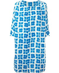 White and Blue Print Coat